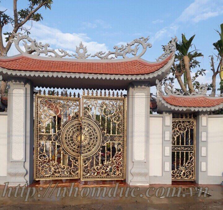 Nhôm đúc cổng chùa, sản xuất công nghệ Nhật Bản