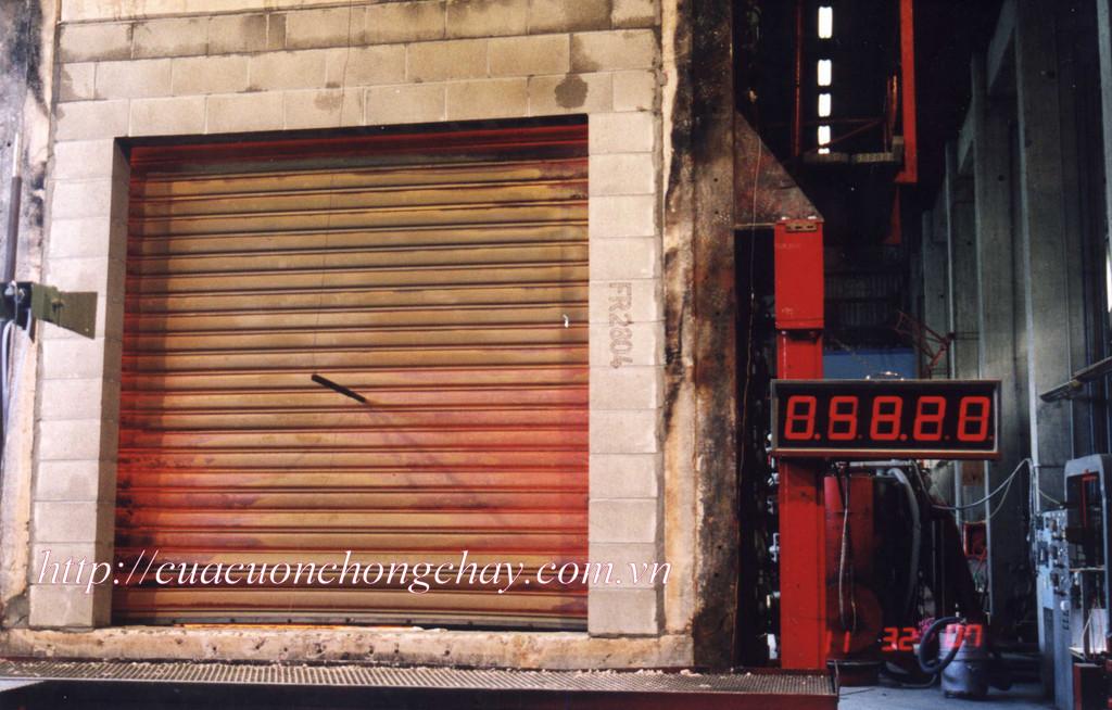 cửa cuốn chống cháy 2 lớp inox