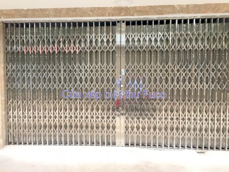 Cửa xếp INOX chống trộm, Cua xep Ha Noi