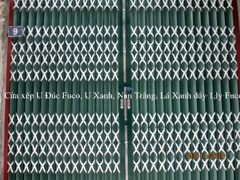 Cửa xếp U Đúc sơn tĩnh điện, cửa xếp, cửa xếp Đài Loan