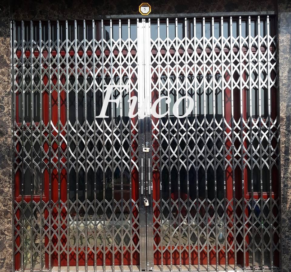 Cửa xếp INOX Hộp tại Hải Phòng