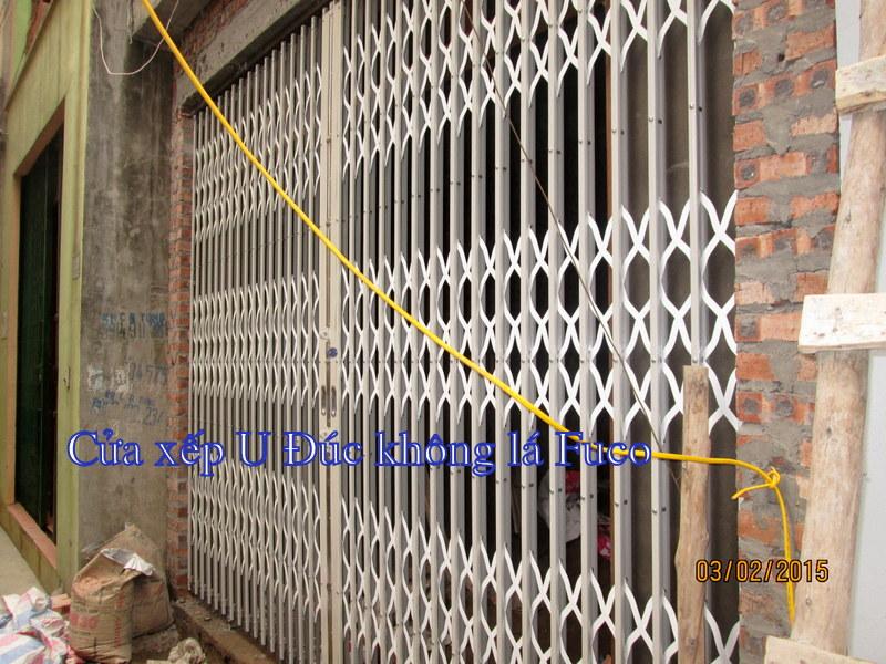 Cửa xếp U Đúc sơn tĩnh điện, cửa xếp, cửa xếp Đài Loan, cửa xếp INOX do Fuco Hà Nội sản xuất.