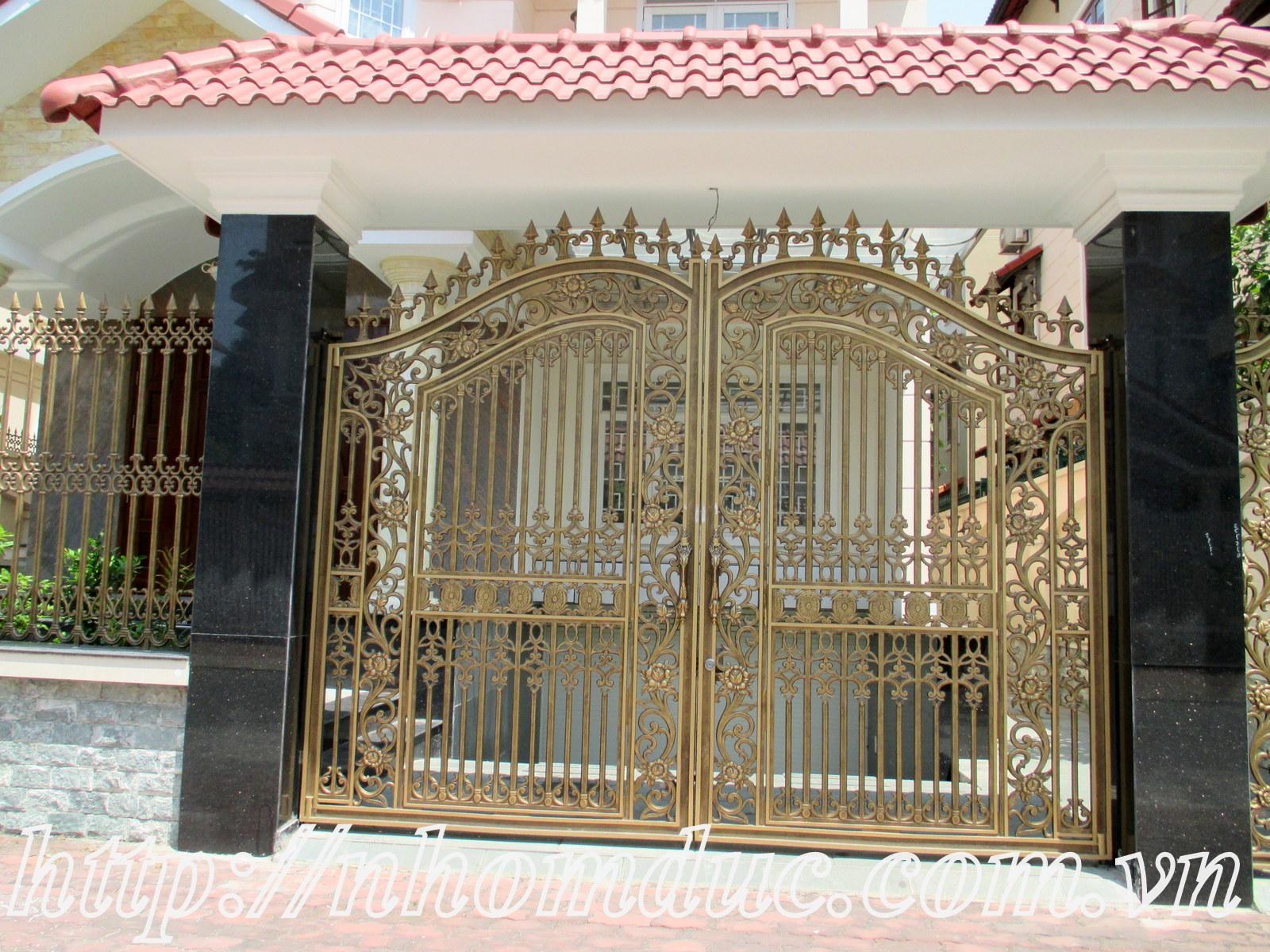 Cổng đúc nguyên khối từ hợp kim nhôm, Cửa cổng nhôm đúc GAT