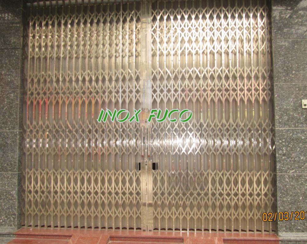 Bảng giá cửa xếp INOX Fuco, cua xep va các dòng cửa xếp inox 304 cao cấp có giá phải chăng, khách hàng đánh giá cao cửa xếp inox do Fuco sản xuất