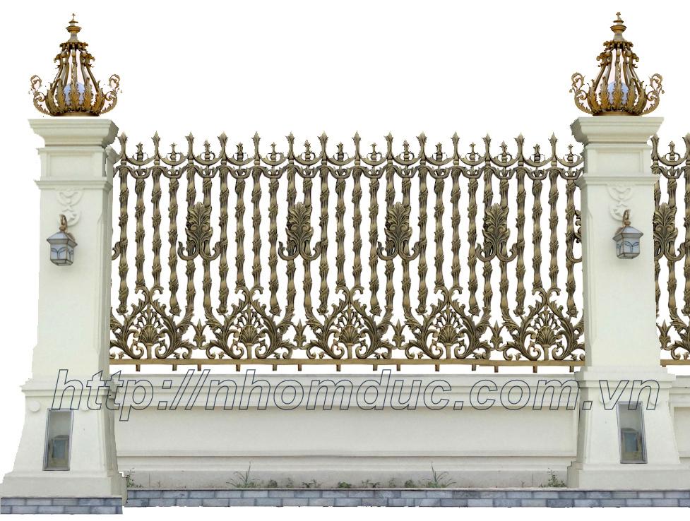 Hàng rào hợp kim nhôm đúc, cửa cổng nhôm đúc hợp kim đẹp