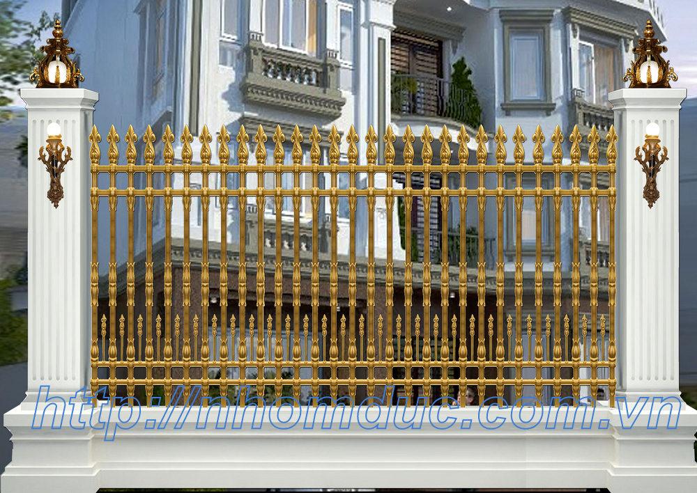 Thi công lắp đặt cổng nhôm đúc, hàng rào nhôm đúc