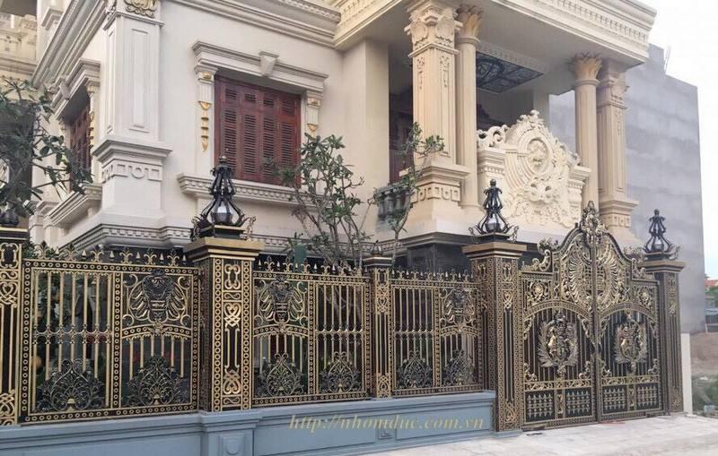 cửa cổng biệt thự nhôm đúc Fuco TP.Huế, cửa cổng biệt thự nhôm đúc Fuco Tiền Giang