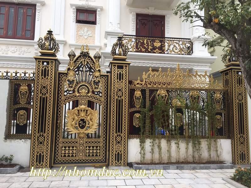 cửa cổng biệt thự nhôm đúc Fuco Cai Lậy, cửa cổng biệt thự nhôm đúc Fuco Trà Vinh