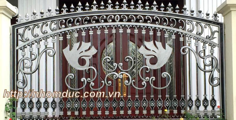 Mẫu cửa cổng nhôm đúc GAT 135, Nhôm đúc Hà Nội