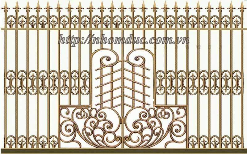 Hàng rào hợp kim nhôm đúc, được làm từ chất liệu chính là nhôm