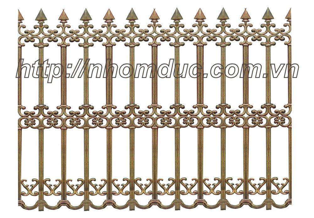 các loại hàng rào chất liệu nhôm đúc với nhiều mẫu mã kiểu dáng chuyên dùng cho các ngôi nhà biệt thự