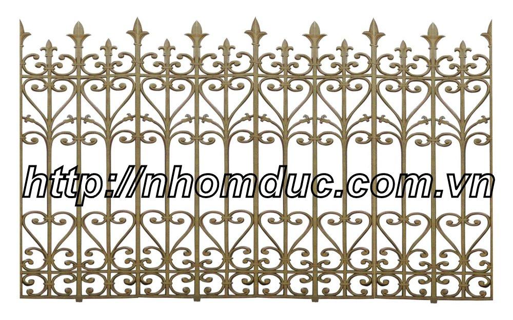 Cửa cổng hàng rào nhôm đúc , Hàng rào nhôm đúc