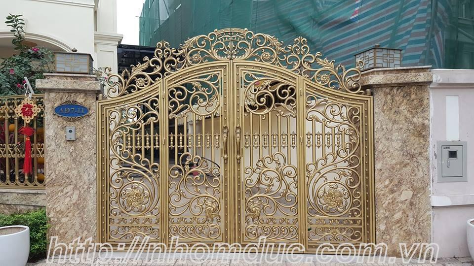 Các loại cửa cổng nhôm đúc