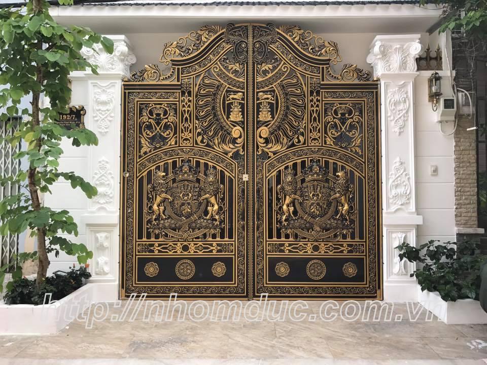 Sản xuất, thi công lắp đặt cổng biệt thự, cổng nhôm đúc, hàng rào nhôm đúc
