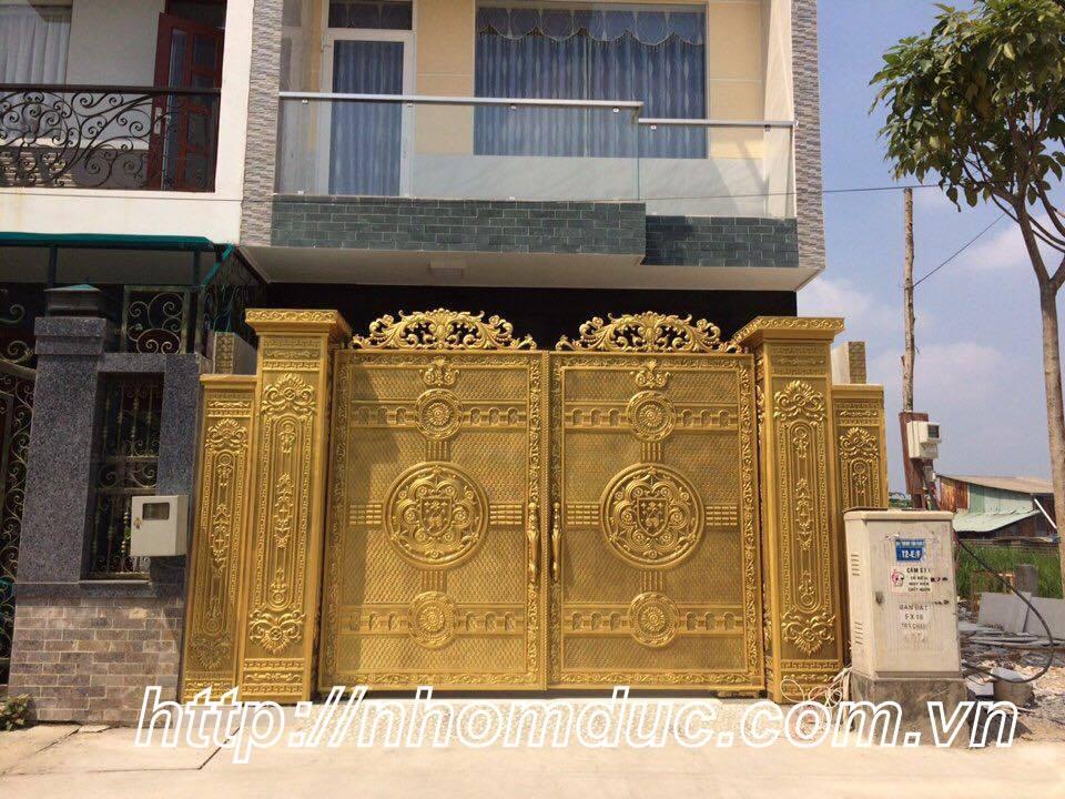 Cửa cổng hợp kim nhôm đúc Hà Nội, Cửa cổng nhôm đúc biệt thự GAT 131