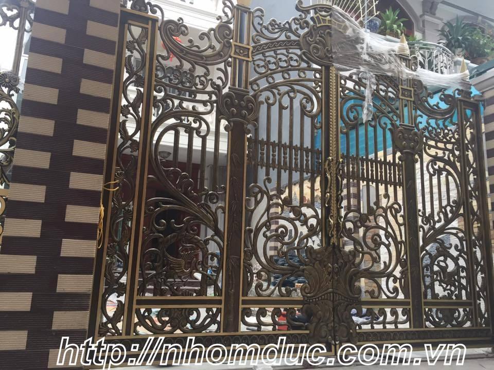 Chúng tôi chuyên sản xuất, lắp đặt, thi công các loại: Cổng nhôm đúc, cổng biệt thự