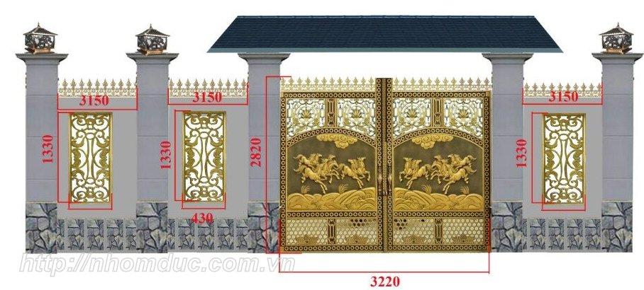 Cổng Nhôm Đúc Cao Cấp
