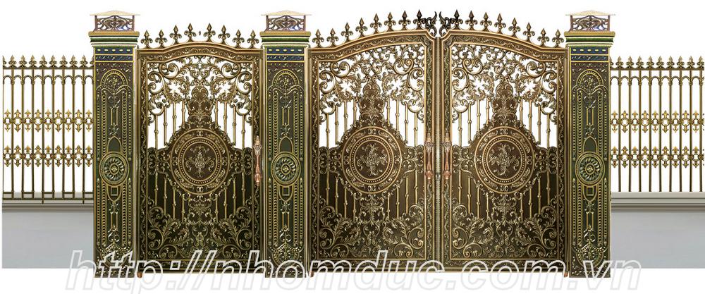 Thiết kế cổng nhôm đúc theo yêu cầu