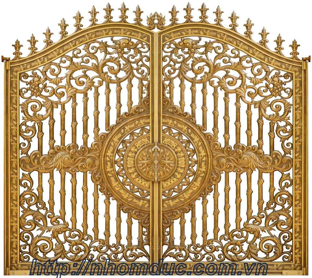Mẫu cổng nhôm đúc đẹp, Nhôm đúc Fuco