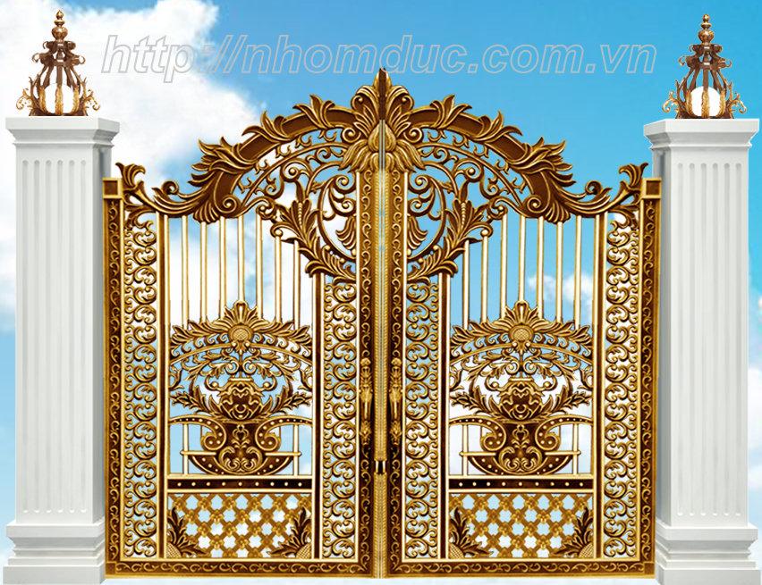Mẫu thiết kế cổng nhôm đúc