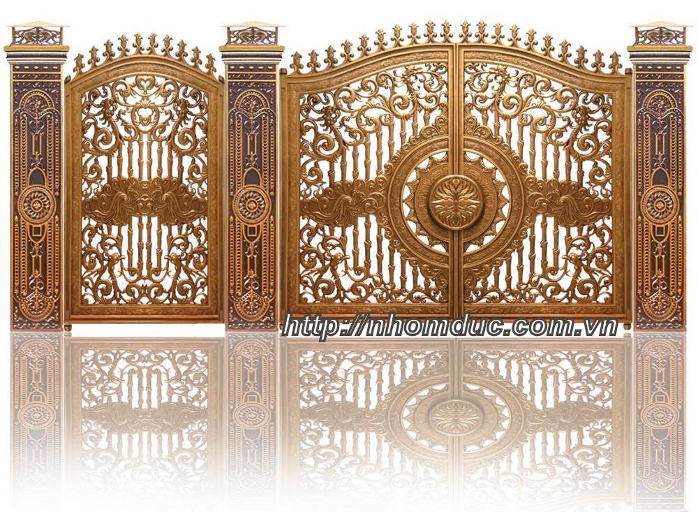 Các mẫu thiết kế cổng nhôm đúc cao cấp