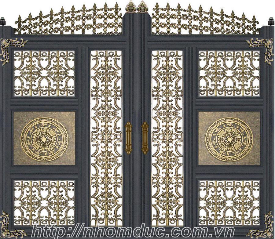 Thiết kế nhôm đúc, thiết các công trình cổng, cửa nhôm đúc, thiết kế hàng rào, lan can nhôm đúc,,. tại Hà Nội, HCM và các tỉnh thành.