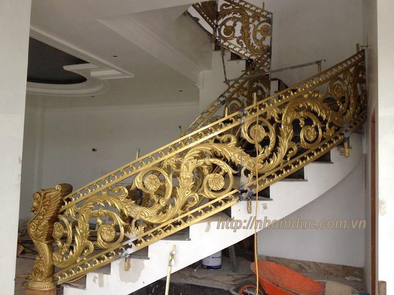 Cầu thang nhôm đúc, Chuyên sản xuất, tư vấn, thiết kế, thi công cầu thang nhôm đúc bền đẹp. Cầu thang nhôm đúc Fuco có chất lượng cao