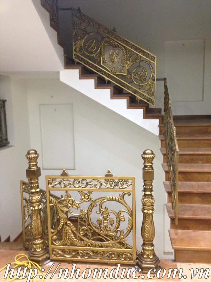 Báo giá cầu thang nhôm đúc, báo giá các loại cầu thang thẳng,