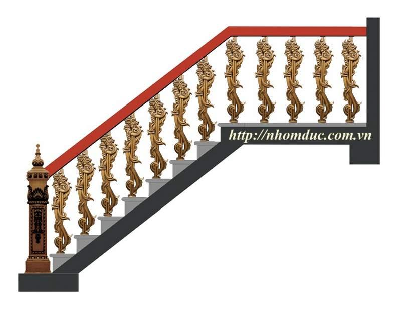 Cầu thang hợp kim nhôm đúc CT 152