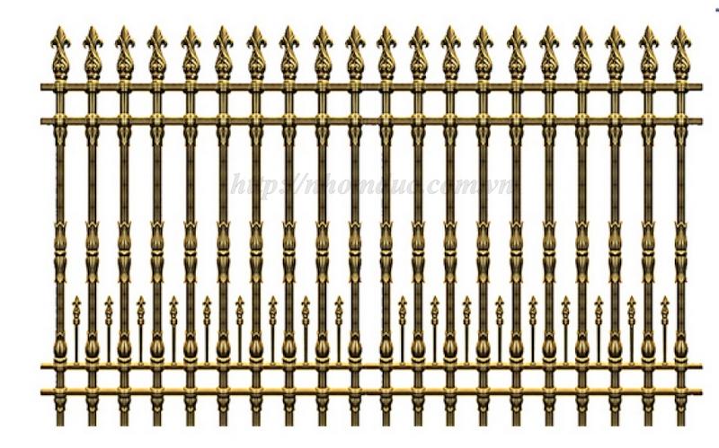 Mẫu hàng rào nhôm đúc 2018