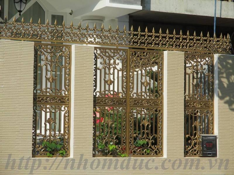 Mẫu hàng rào nhôm đúc