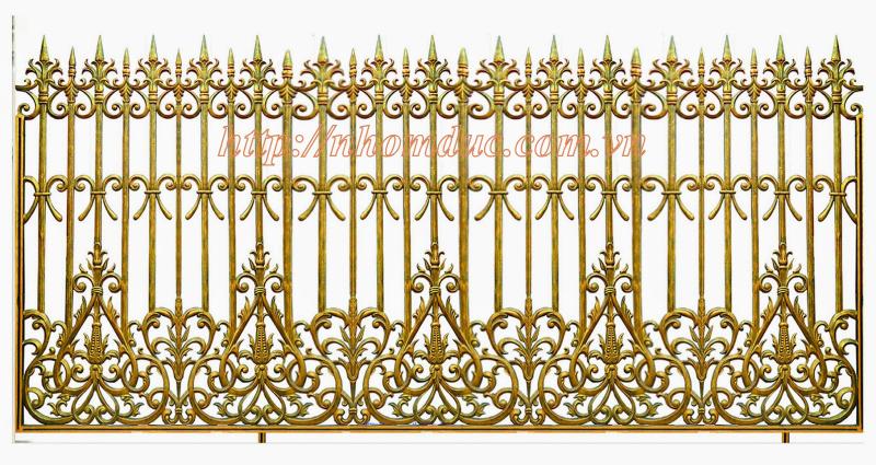 Hàng rào nhôm đúc biệt thự, hàng rào nhôm đúc