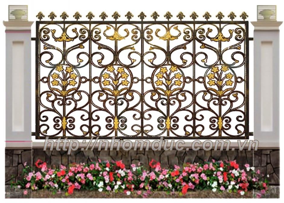 Báo giá hàng rào nhôm đúc hợp kim, Hàng rào nhôm đúc, báo giá các loại hàng rào