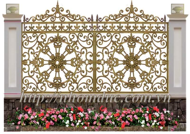 Báo giá hàng rào nhôm đúc hợp kim Báo giá loại hàng rào theo các mẫu loại này và các mẫu tương tự giá từ 4300000VNĐ/m đến 5000000VNĐ/m