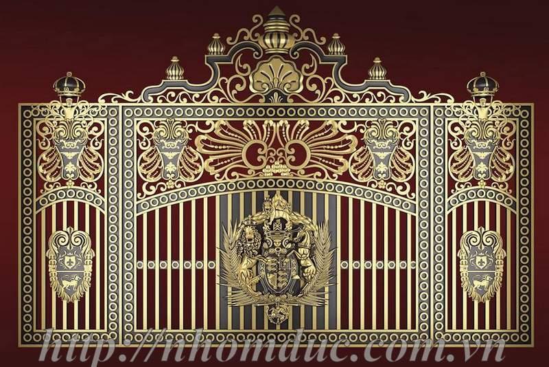 Hàng rào nhôm đúc phù điêu Buckingham
