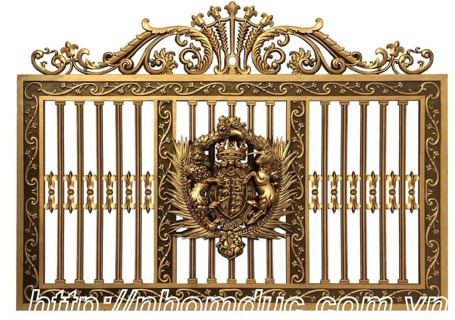 Cổng nhôm đúc phù điêu Buckingham