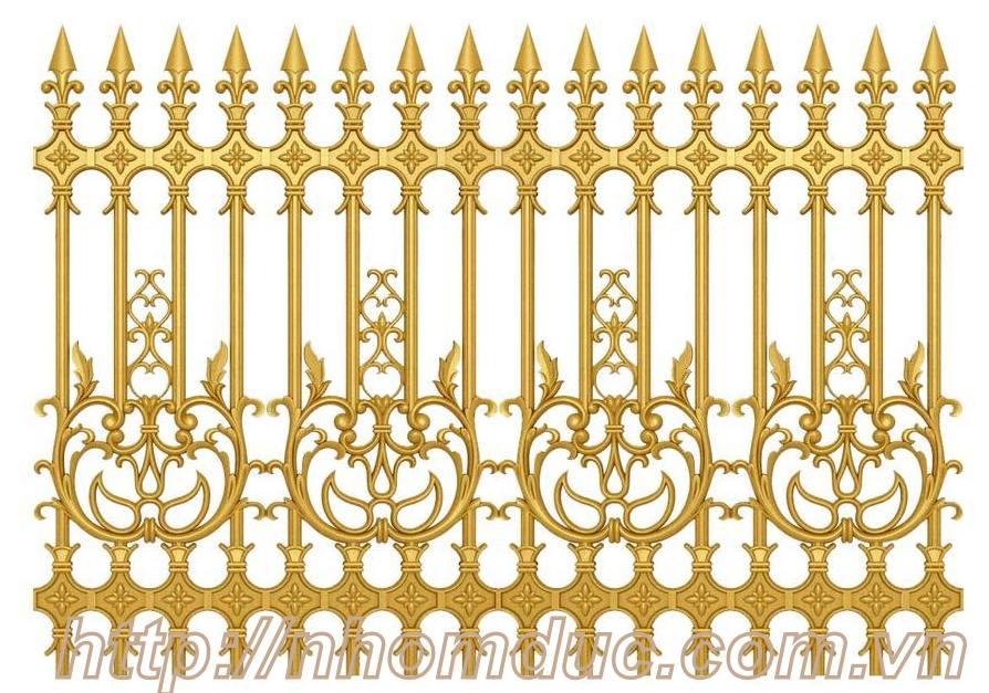 Hàng rào biệt thự hàng rào nhôm đúc đẹp - Fuco. công cửa nhôm đúc, cổng nhôm đúc, hàng rào nhôm