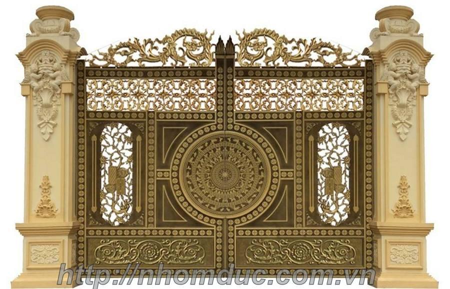 Cổng nhôm đúc trống đồng với kiểu dáng đa dạng đang là loại cổng