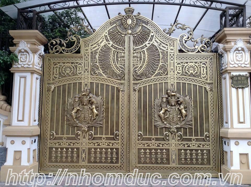 Cổng biệt thự Hà Nội, Cổng nhôm đúc, các dòng sản phẩm nhôm đúc như cửa nhôm đúc