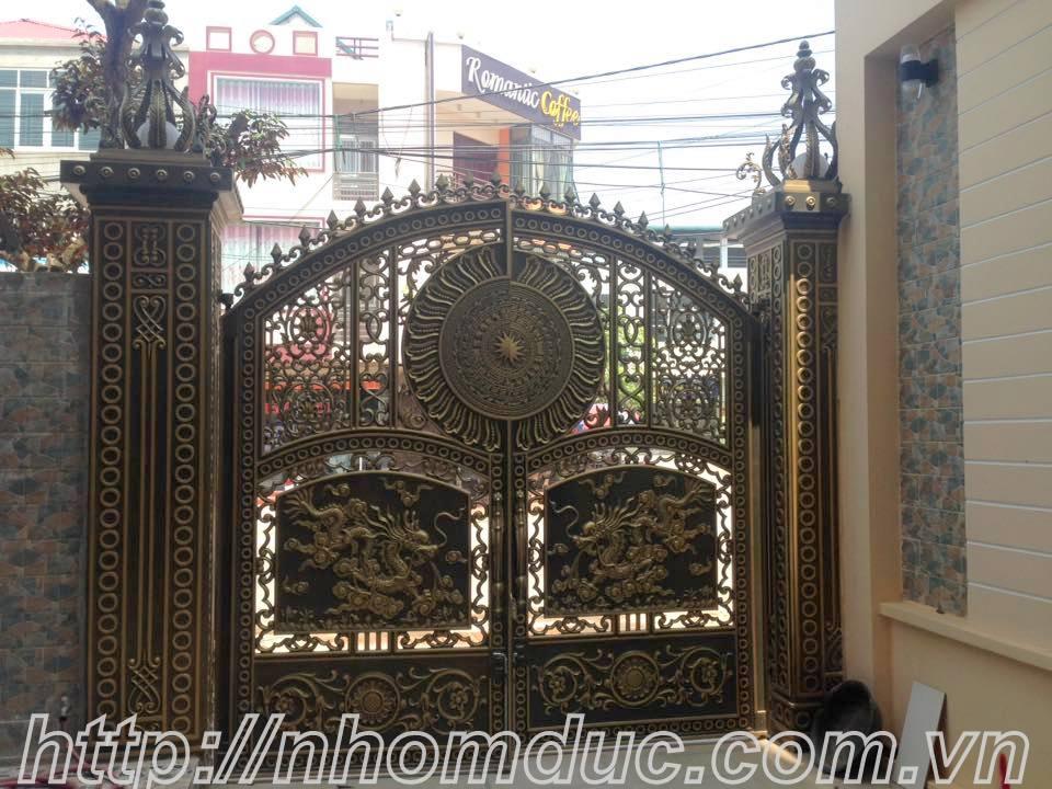 Mẫu cửa cổng nhôm đúc GAT