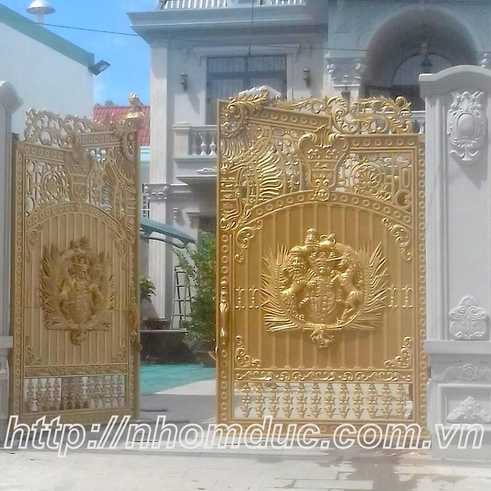 cổng cửa nhôm đúc Hà Nội uy tín