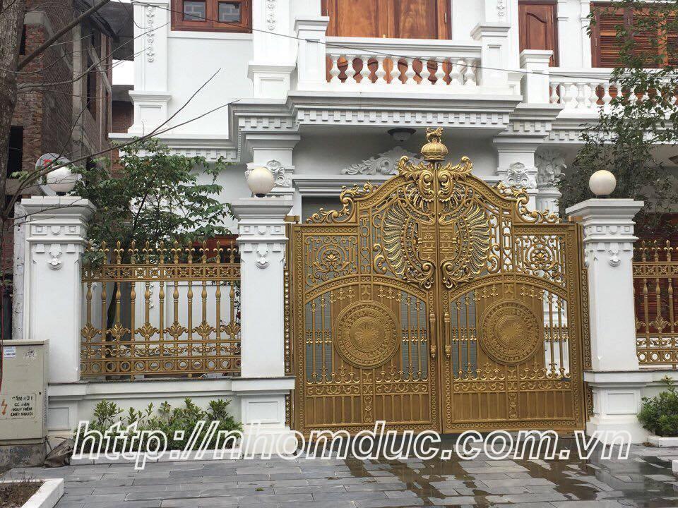 Cổng cửa hợp kim nhôm đúc cao cấp tại Hà Nội