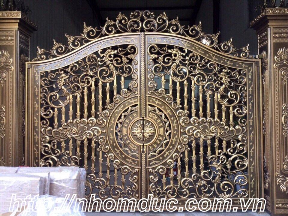 Cửa cổng hợp kim nhôm đúc Hà Nội