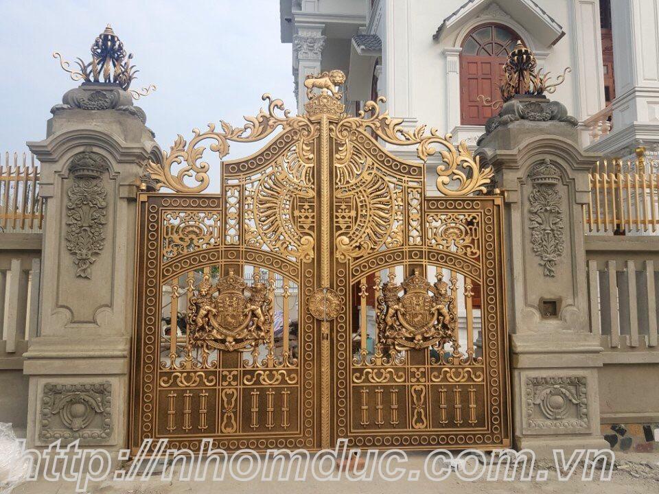 Cửa cổng nhôm đúc tại Hải Phòng