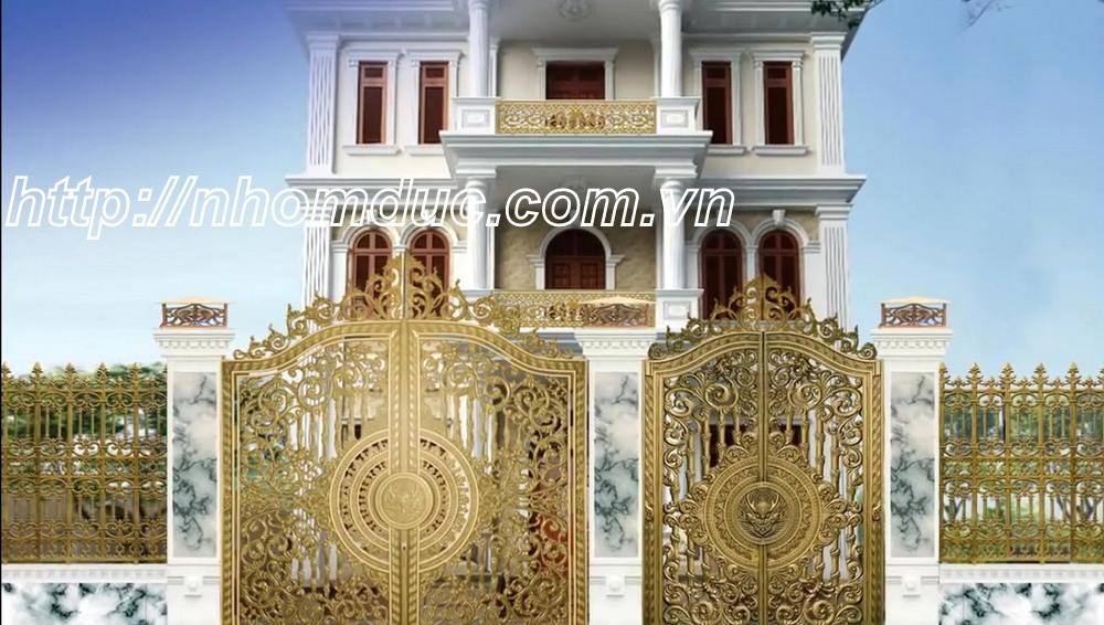 Những mẫu cổng nhôm đúc đẹp