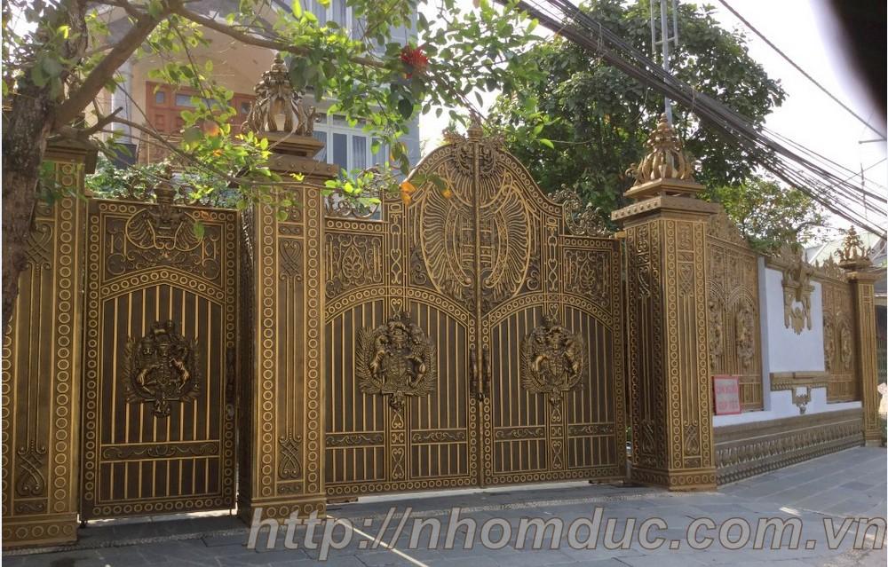 Cửa cổng hợp kim nhôm đúc, sản phẩm nhôm đúc công nghệ Nhật