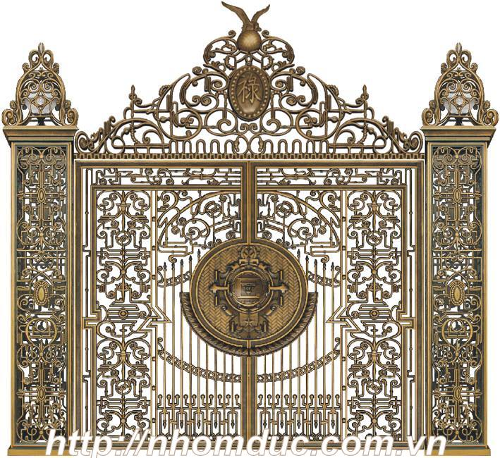 ừ cổng nhôm đúc đơn giản đến cổng nhôm đúc phức tạp