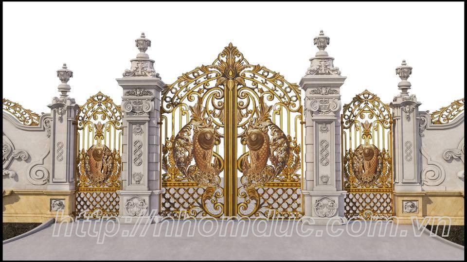 Báo giá cổng nhôm đúc nam định
