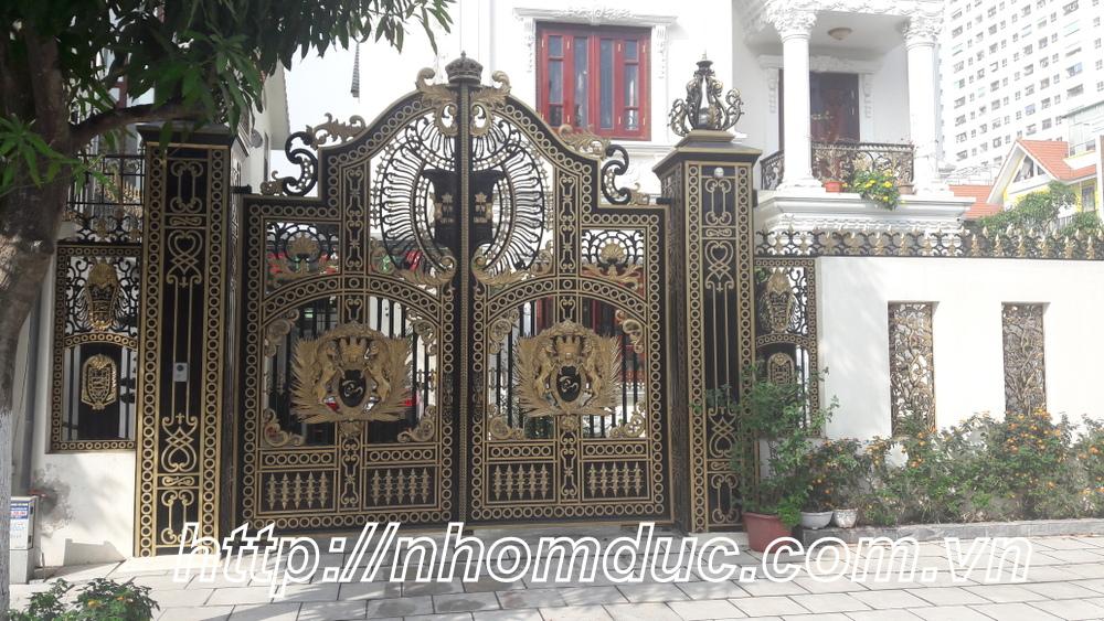 Cổng nhôm đúc tứ linh, Mẫu cổng nhôm đúc đẹp
