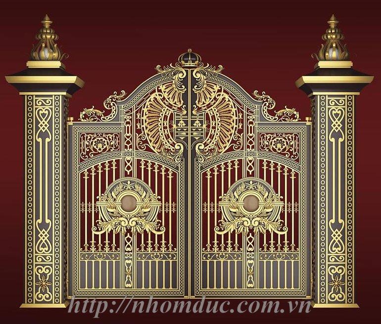 thi công và lắp đặt: cổng nhôm đúc, cổng biệt thự